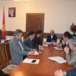 Встреча с вице-губернатором Таласской области, сентябрь 2017г.