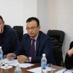 Заместитель Председателя ОАГФ Азамат Кожобаев на круглом столе по вопросам развития МСП, январь 2017г.