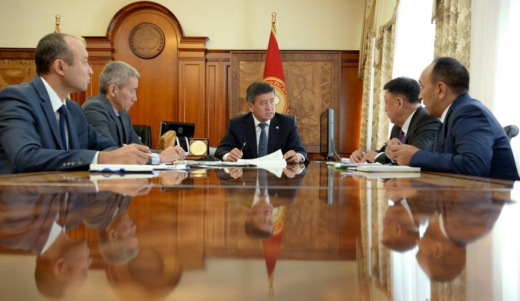 Президент Сооронбай Жээнбеков Россия-Кыргыз өнүктүрүү Фондунун, «Кепилдик фонд» ААК, «Айыл Банк» ААК жана «РСК Банк» ААК төрагаларын кабыл алды