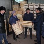 На презентации производства деревянных ящиков в Кара-Жыгаче, февраль 2019 - 2