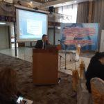 Талант Тулобердиев на презентации в Таласе, 17 апреля
