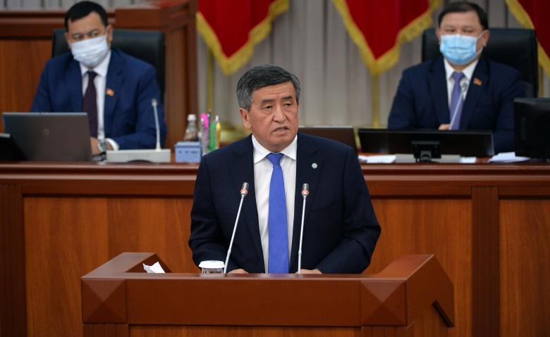 Президент Кыргызской Республики Сооронбай Жээнбеков на заседании Жогорку Кенеша заявил о необходимости оказания поддержки бизнесу